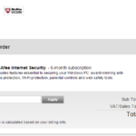 Mcafee Internet security free
