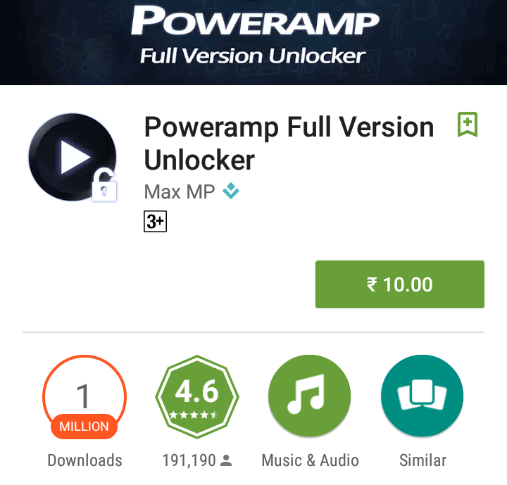 Poweramp Full Version for Rs 10 Only (Cheapest Ever)