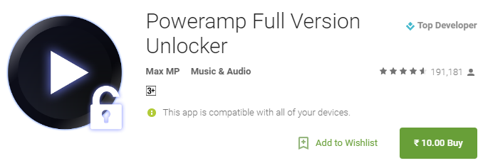 Poweramp Full Version For Rs10 Only (Cheapest Ever) - Android Apps on Google Play