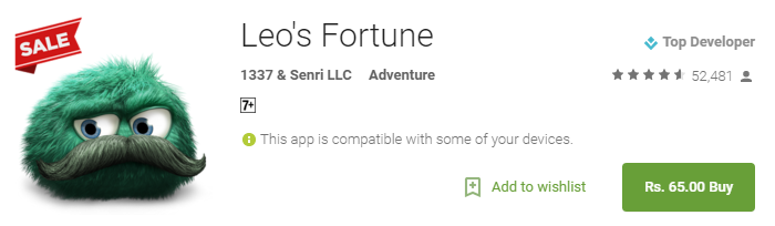Leos Fortune 80 Off– Android Apps on Google Play - Leo's Fortune for Rs. 65 Only