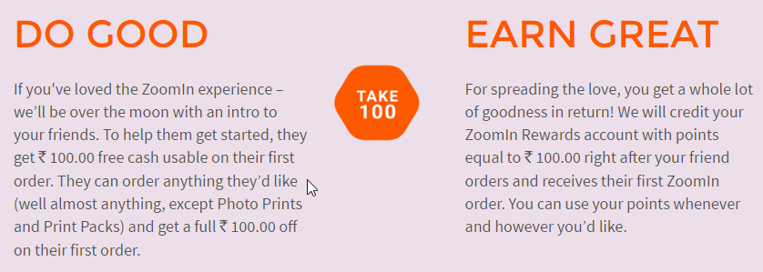 Zoomin Refer and Earn 100 - Get a photo magnet just for Rs. 29 or a poster for Rs. 49 only + refer and earn!