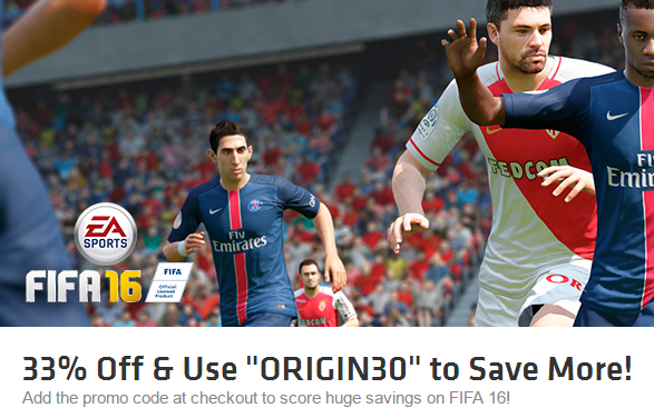 FIFA 16 at 46 off from Origin for Rs 1633 only - FIFA 16 at 46% Off on Origin for Rs 1633 Only [Lowest Ever Price]