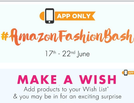 Amazon Fashion Bash – Add Products in Wishlist to Get Exciting Surprise