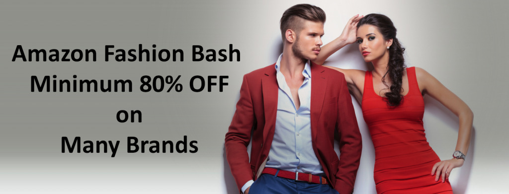 Amazon Fashion Bash 80 Off on Many Brands - Fashion Bash 80% Off on Many Brands Loot Starts at Rs 59 Only