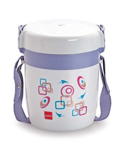 Cello Elite Gray & Blue Lunch Box- 3 Containers