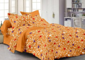 Cenizas 100% Cotton Double Bedsheet With 2 Pilow Covers