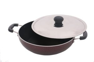 Cheftain Kada-Kadai Premium Induction Base Kadai with Lid (220 mm)