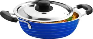 CookAid Stainless Steel with Lid Kadhai 1.2 L 300x128 - CookAid Stainless Steel with Lid Kadhai 1.2 L for Rs 249 (67% off)