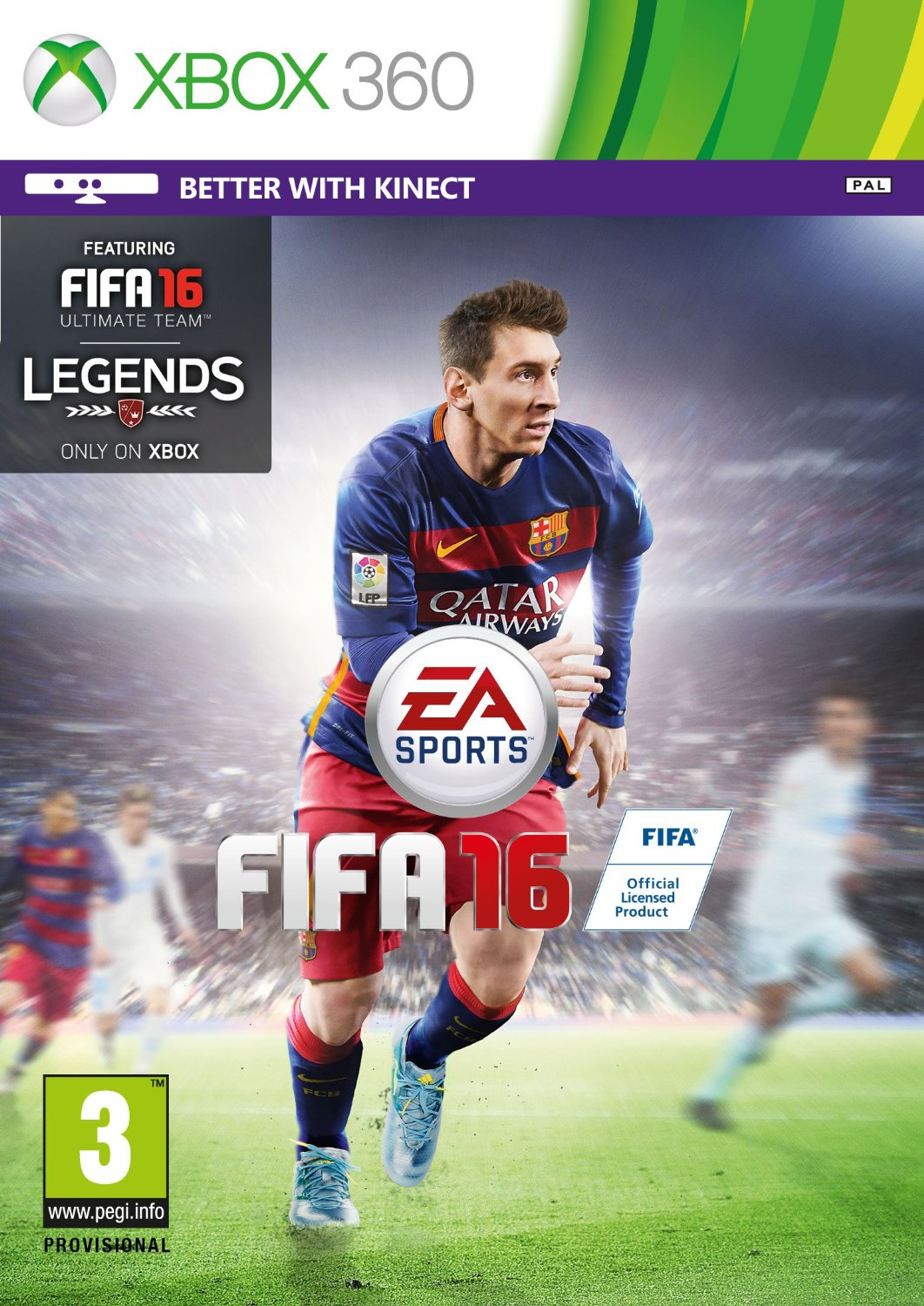 FIFA 16 (Xbox 360) for Rs 1999 (43% off)
