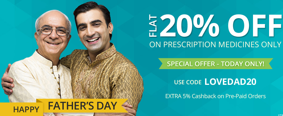 Get flat 20% off on Medicines + Extra 5% cashback from Netmeds