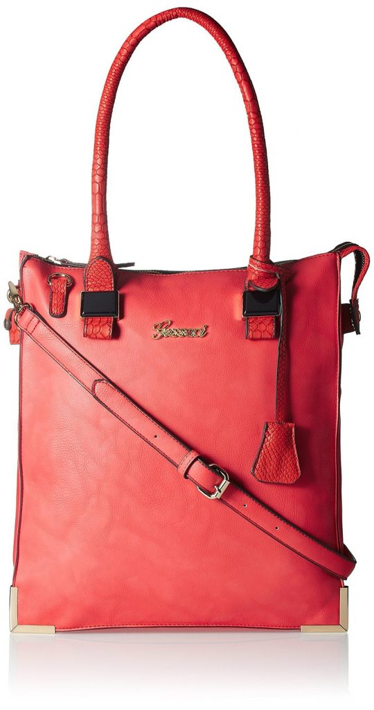Gussaci Italy Women's Handbag (Red) for Rs 875 (75% off)