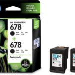 HP 678 Twin Pack Black Ink (Black) for Rs 606 + 50 PayTM Cash