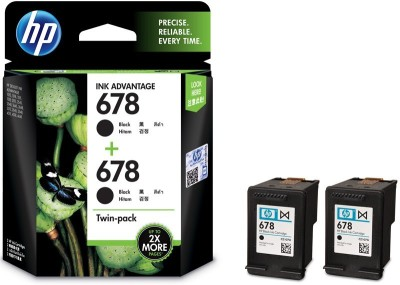 HP 678 Twin Pack Black Ink (Black) for Rs 606 + 50 Cashback