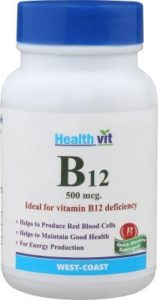 HealthVit B12 Vitamin B12 Deficiency 60 Tablets