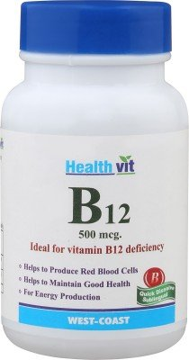HealthVit B12 Vitamin B12 Deficiency 60 Tablets for Rs 199 (50% off)