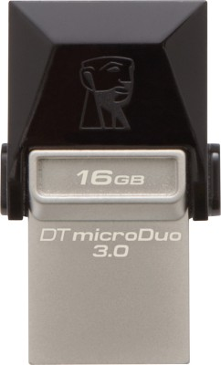 Kingston Data Traveler 3.0 MicroDuo 16 GB On-The-Go Pendrive for Rs 399 (38% off)
