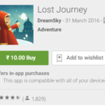 Lost Journey Game for Rs 10