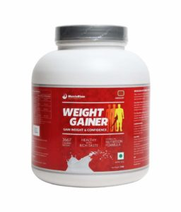 MuscleBlaze Weight Gainer, 3 kg / 6.6 lbs for Rs 1060 only.