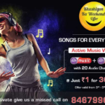 Music World with 20 audio channels Active at ₹1 for 30 days, Videocon D2H