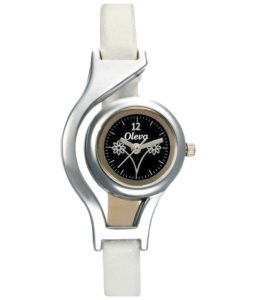 Oleva White Analogue Watch