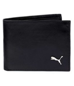 Puma Black Leather Formal Wallet for Men