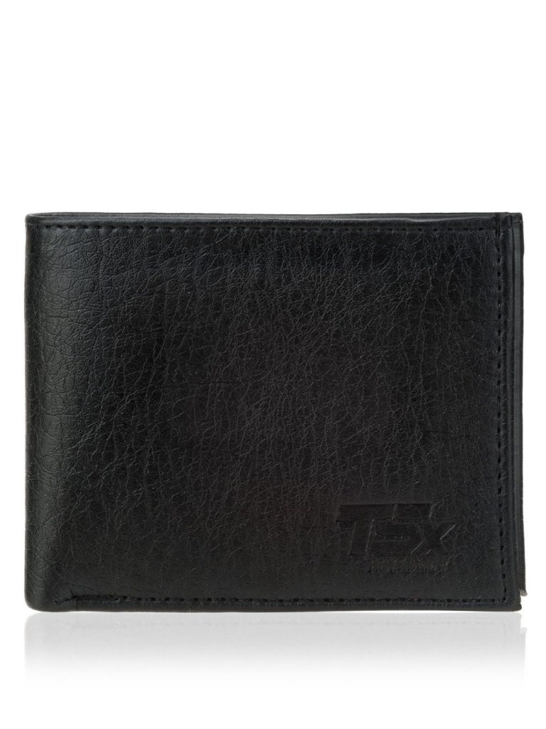 TSX Men's Black Faux Leather Wallet for Rs 197 (75% off)