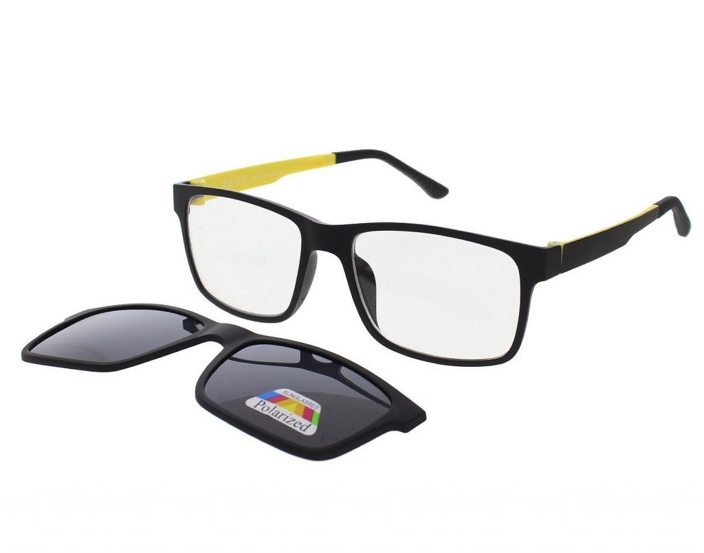 Magnetic Polarized Clip On Sunglasses  vast polarized magnetic clip on sunglasses plus frame for rs 999