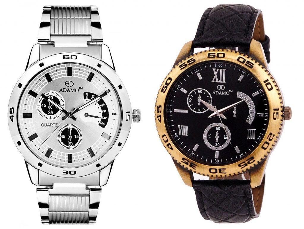 ADAMO Men's Designer Watch Combo for Rs 584 (83% off)