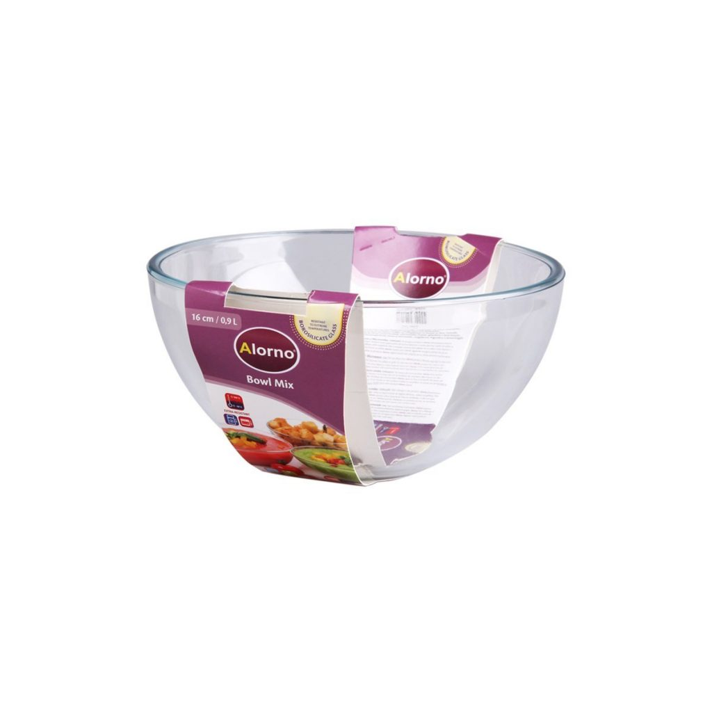 Alorno Borosilicate Glass Mixing Bowl, 900ml for Rs 299 (50% off)