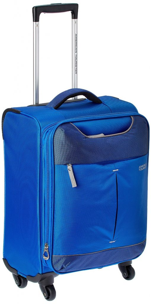 American Tourister Sky Polyester 55Cms Blue Soft Sided Suitcase for Rs 3849 (45% off)