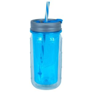 Cool Gear Multipurpose Usage Mason jar, 473 ml, Blue