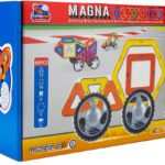 FLYING START Magna Blocks 40 pcs Wheels Magnetic Building Kit