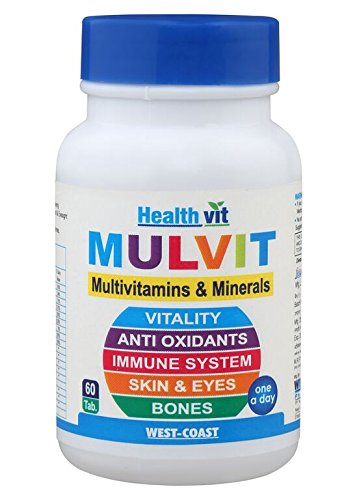 HealthVit MULVIT A TO Z Multivitamins and Minerals 60 Tablets for Rs 200 (50% off)