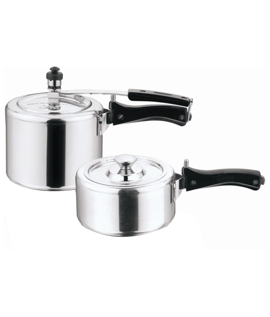 Home Zone (ISI) Combo Of 2 Litre & 3 Litre Pressure Cookers for Rs 849 (29% off)