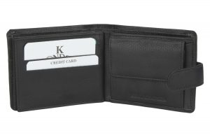 K London Black Men's Wallet(2524_blk)