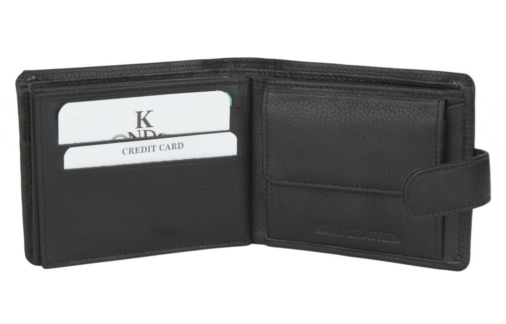 K London Black Men's Wallet for Rs 424 (72% off)