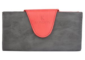 K London Women's Wallet Red & Grey-