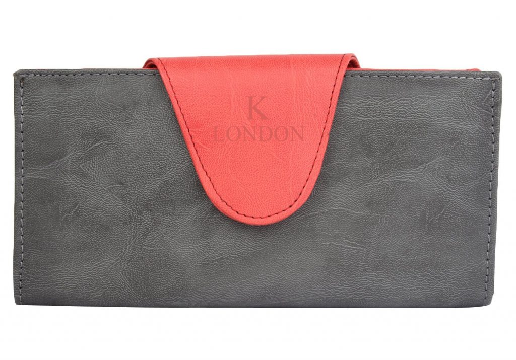 K London Women's Wallet Red & Grey for Rs 724 (72%off)