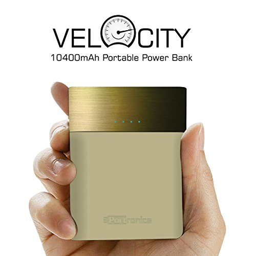 Portronics Velocity 10400 mAh Power Bank ( Golden) for Rs 989 (21% off)