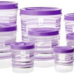 Princeware Twister Plastic Package Container Set, 8-Pieces, Violet
