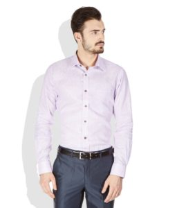 Raymond White Slim Fit Casual Linen Blend Shirt