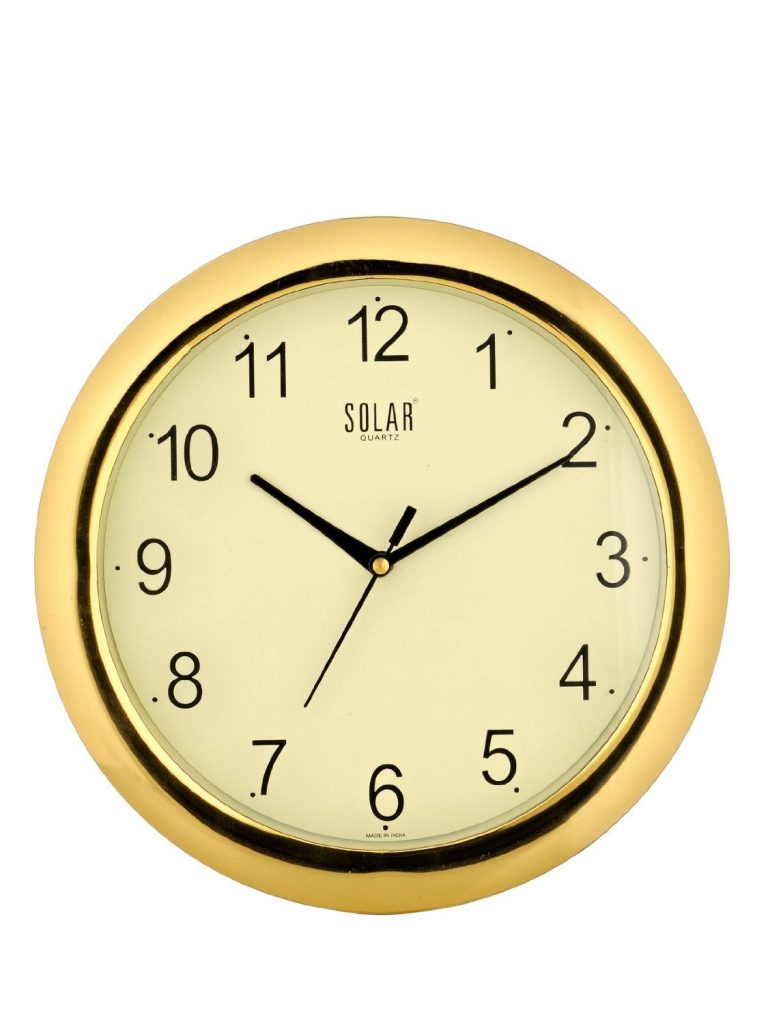 Solar Round Plastic Wall Clock for Rs 323 (54% off)