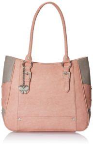 Butterflies Women's Handbag (Peach) (BNS 0546 PCH)