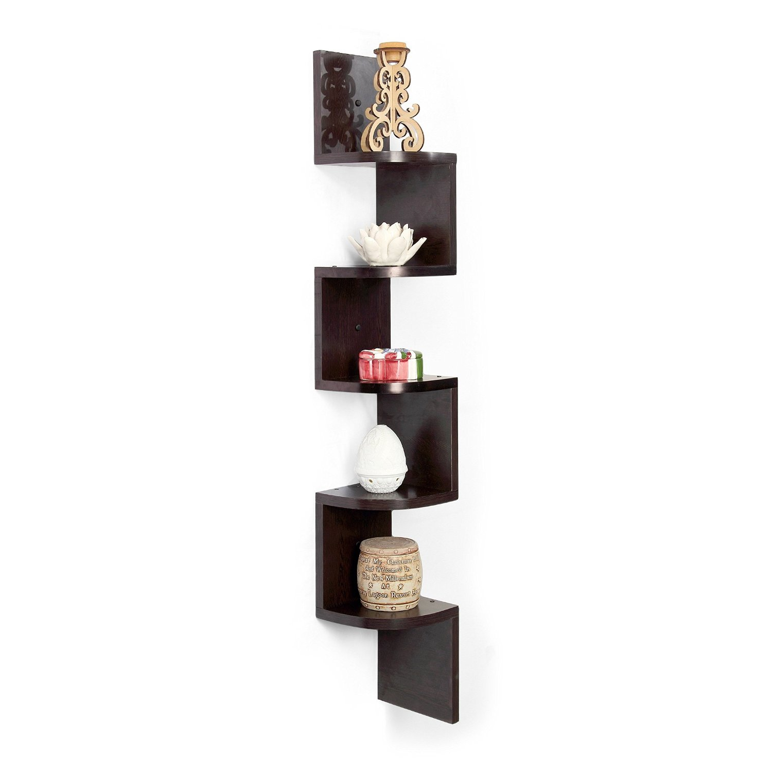 Forzza Vincent Corner Wall Shelf (Wenge) for Rs 799 (54% off)