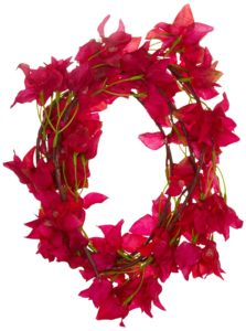 Fourwalls Stunning Artificial Fabric Bougainvillea Garland (186cm, Rani)