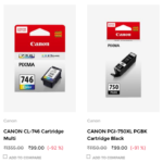 HP & CANON Cartridges for Rs.99 (92% Off) at TataCLiQ