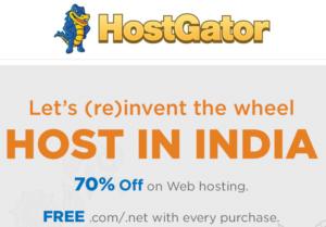 Host In India - Get 70% Off on Hostgator