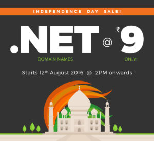 .NET Domain Name for Rs 9 Only - BigRock Independence Day Offer