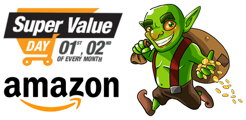 amazon super value day loot deals - Get Daily Essentials at Discounted Prices + Up to Rs 900 Cashback as Amazon Gift Card on Amazon Super Value Day