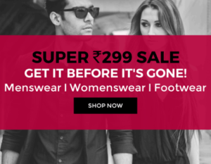 Flat Rs 299 Flash Deals On Clothing, Footwears and Many More at Tata CLiQ